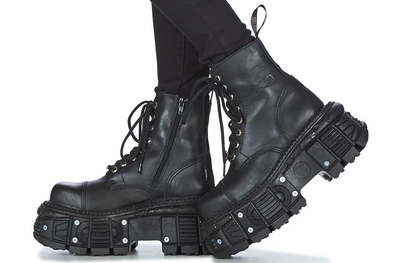 botas altas plataforma