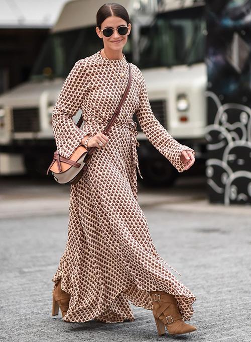 vestidos con botas camperas