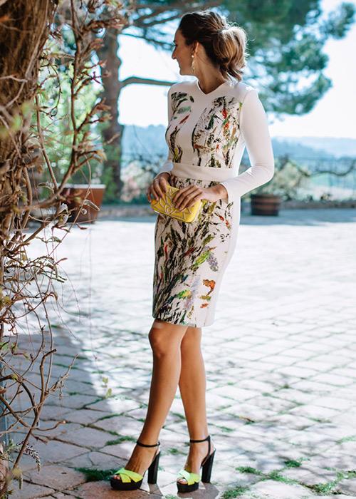 zapatos para vestido estampado flores