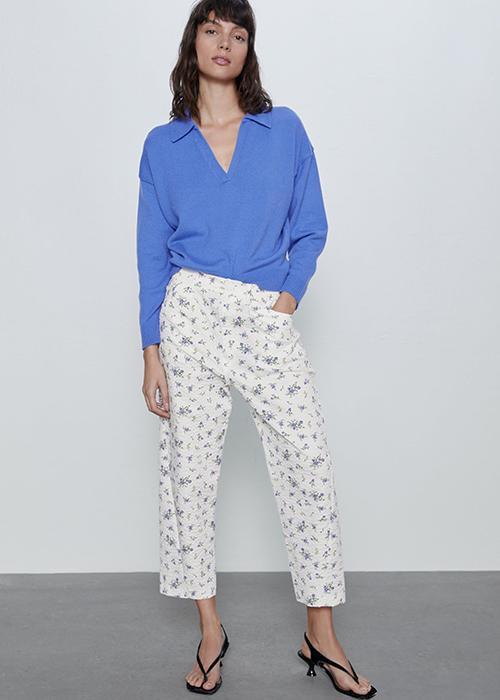 combinar pantalones anchos vestir