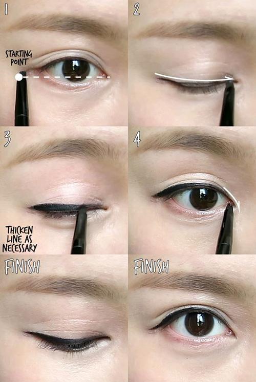 como tener ojos coreanos