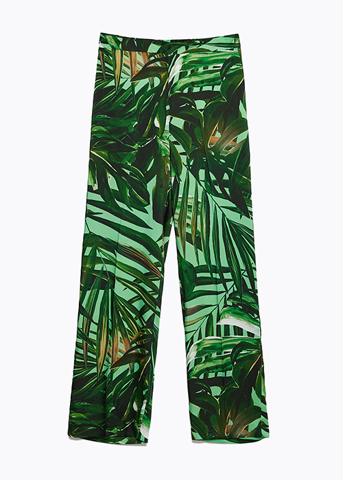 pantalones estampados en Zara