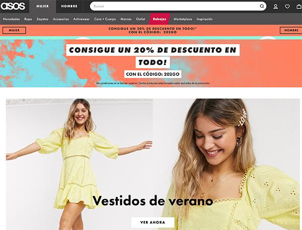 webs de ropa de marca