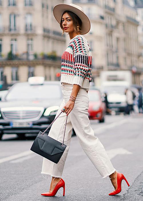 pantalones cropped mujer