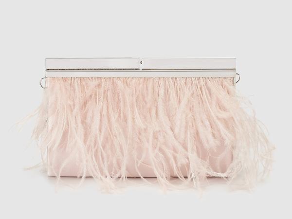 bolsos de fiesta rosa palo
