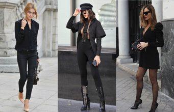 cómo vestir de negro