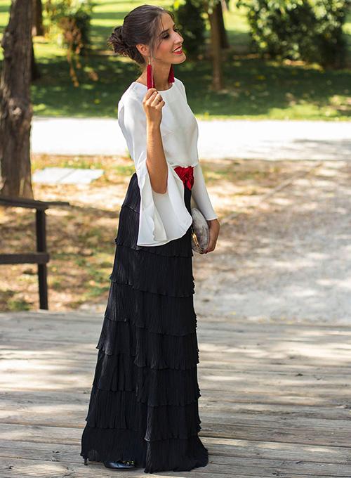 como combinar faldas largas en invierno