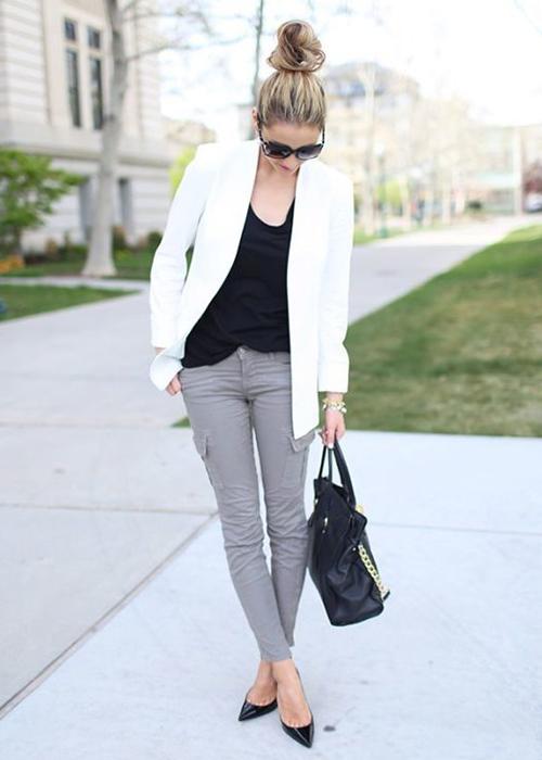 outfit formal mujer pantalon