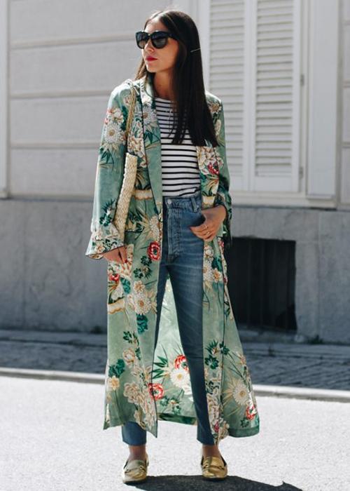 kimono verde zara