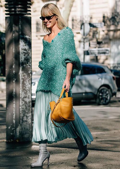 falda mujer verde