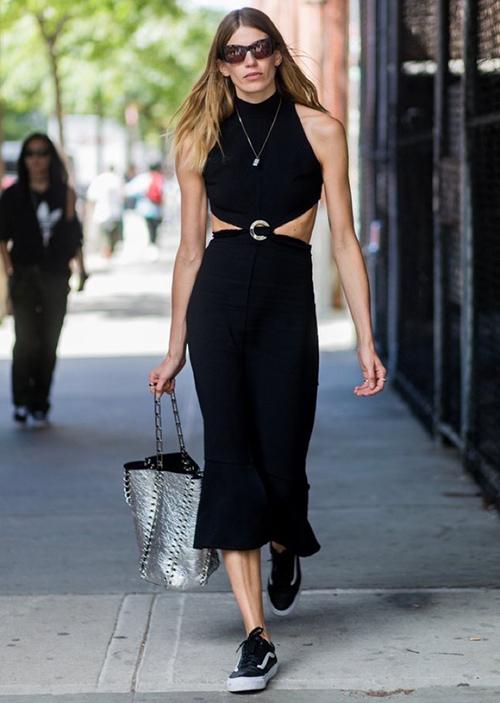 zapatillas negras mujer casual