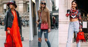 Ideas para combinar un bolso rojo