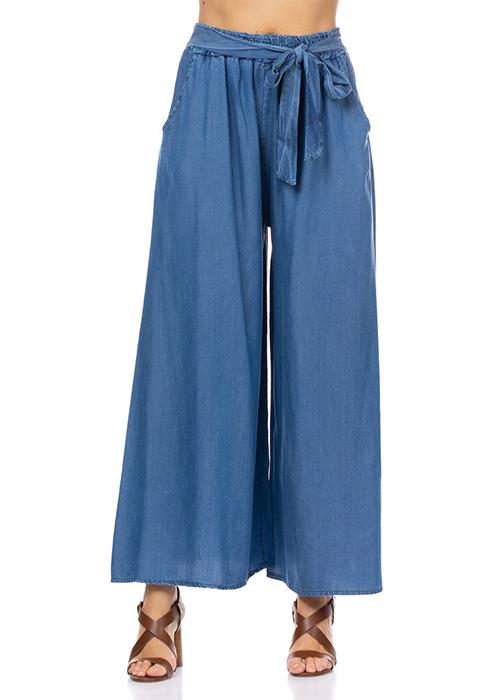 pantalones fluidos pernera ancha