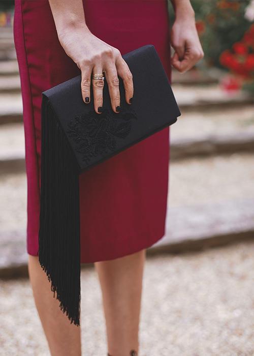 bolsos de boda flecos
