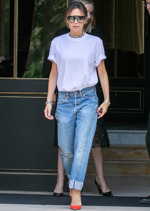 outfit con jeans baggy
