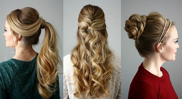 peinados para vestido largo
