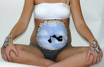 imagenes de embarazadas pintadas