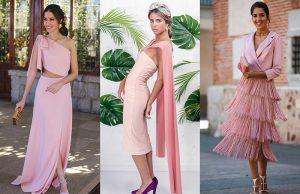 combinar un vestido palo rosa