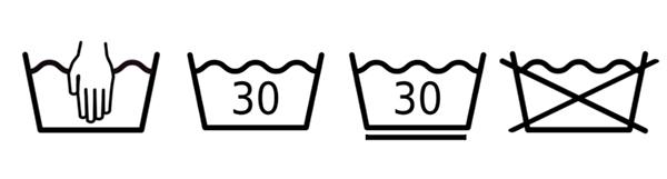 etiquetas de lavado de ropa