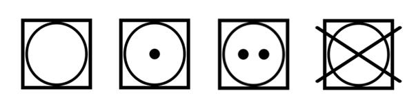 símbolos lavado ropa etiquetas