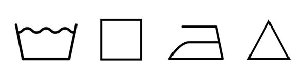 simbolo secadora etiqueta